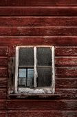Red Wood Building - Broken Window (vertical)