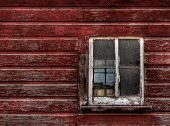 Red Wood Building - Broken Window (horizontal)