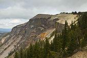pic of pacific rim  - The east rim of Crater Lake in Oregon - JPG