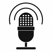 Studio Microphone Icon. Simple Illustration Of Studio Microphone Icon For Web Design Isolated On Whi poster