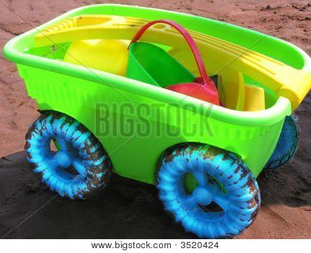 Child'S Wheelbarrow Of Toys