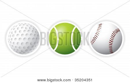 Conjunto de bolas de esporte