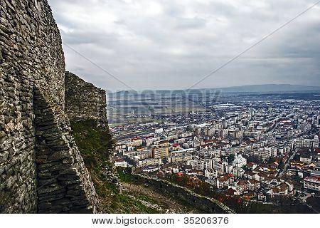 Deva. Aerial View Of The City.5