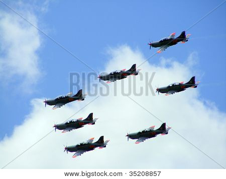 Poland Aerobatic Display Team With Pzl-130 Orlik Planes