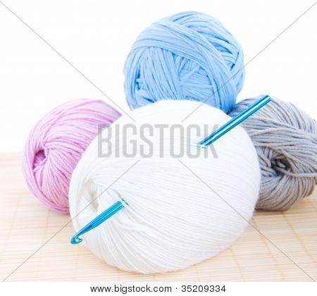Crochet Hook And Yarn