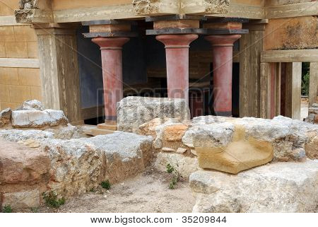 Fragment Of Ancient Minoan Palace