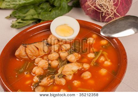 Traditional Spanish Chickpea Stew