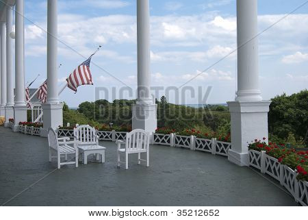 Majestic Front Porch of the Grand Hotel, Mackinac Island, Michigan