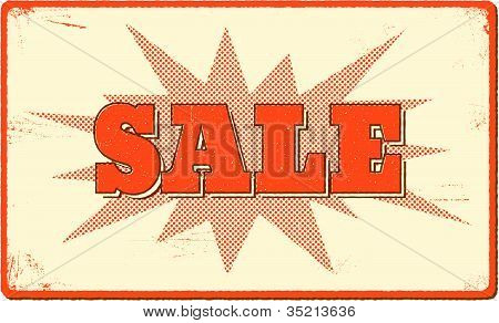 Sale Banner With Halftone Bang Shape
