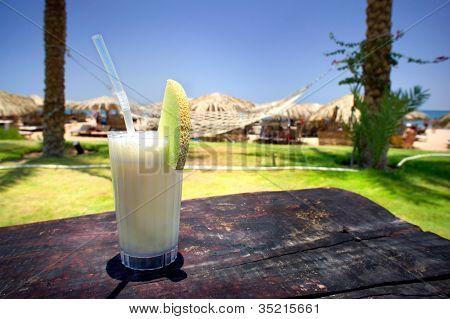 Pina Colada And Sunny Beach.