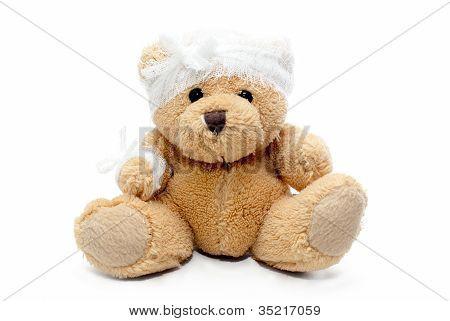 Teddy Bear With Bandaged Head
