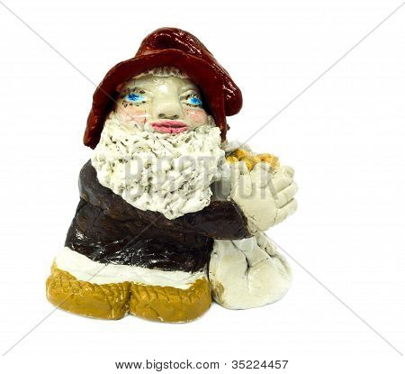 Lovely fabulous Gnome isolated on white background