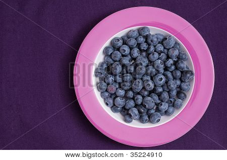 Bilberries On A Plate