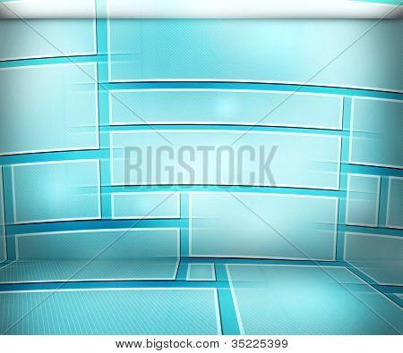Fundo azul da sala Virtual