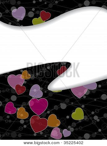 Abstract Background With Hearts