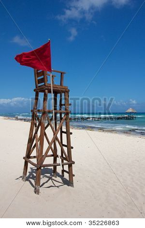 Lifeguard Post At Perfect Caribbean Beach