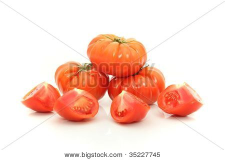 Beefsteak Tomatoes Cross Section