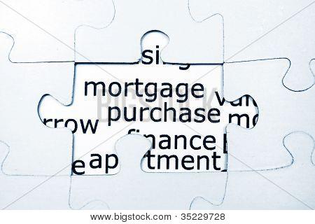 Mortgage Puzzle Concept