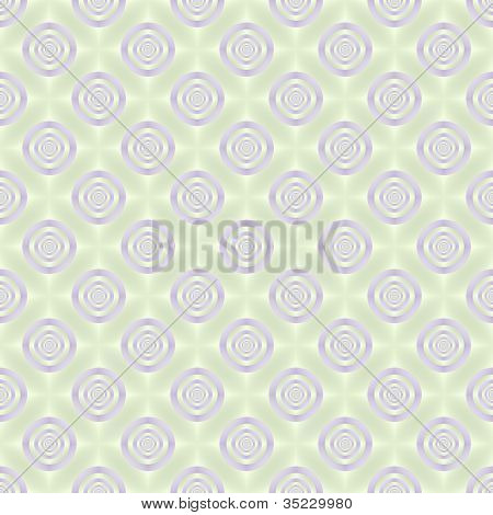Seamless Lilac Rings on Pale Green