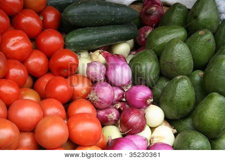 Vegetables at the Otavalo market