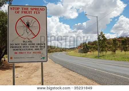 Quarantine Sign On The Road