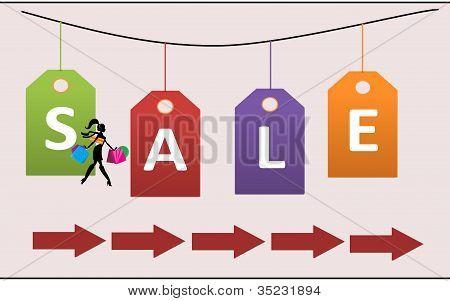 Sale cardboard
