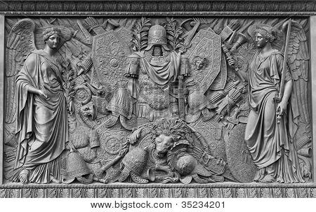 Relief in honour of Russia's victories, Alexander Column, Petersburg