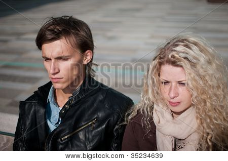 Relationship problem - couple portrait