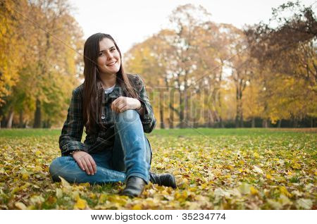 Happy fall lifestyle portrait