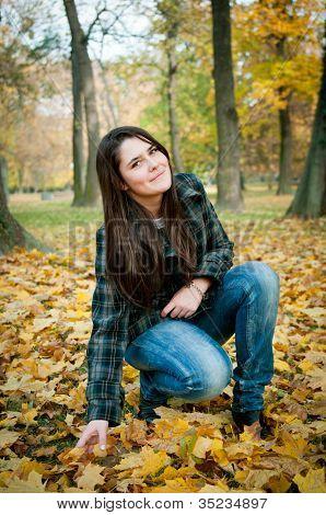 Happy autumn lifestyle portrait