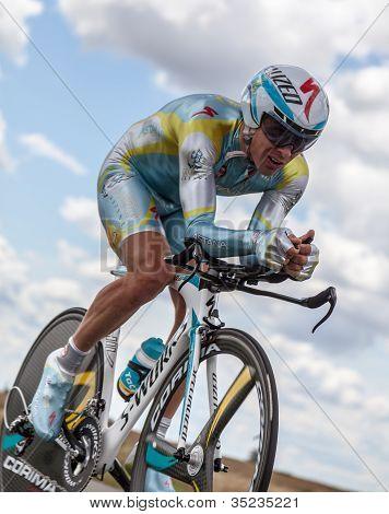 The Kazakh Cyclist Fofonov Dmitriy
