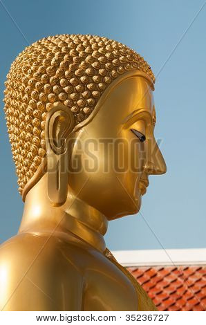 Buddha Head In Profile
