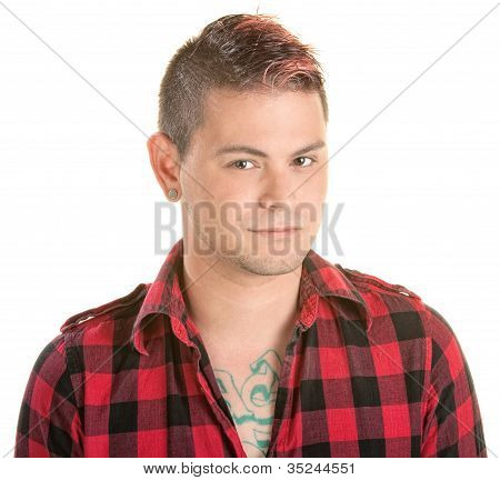 Smirking Man With Spiky Hair