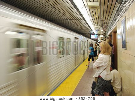 Waiting For The Subway Train