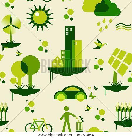 Patrón de la ciudad verde