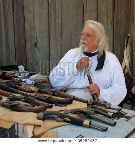 Man With Old Pistols At Fort Ross 200 Year Celebration