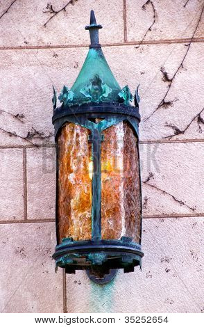 Yale University Doorway Old Metal Lamp