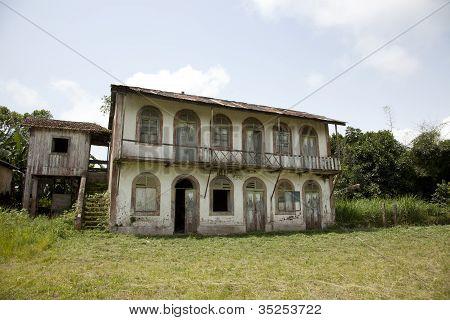 Abandoned Cacao Plantation at Micondo Sao Tome