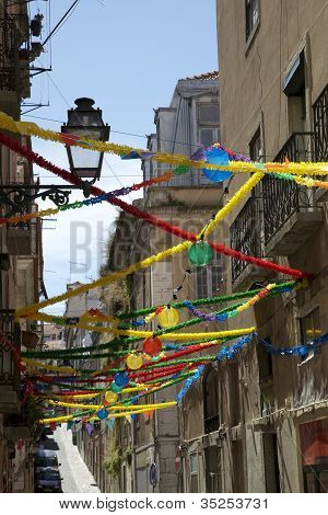 The Old Town Of Bairro Alto Lisbon