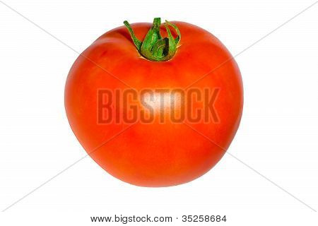 Red Tomato, Isolated On White Background