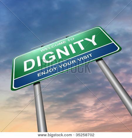 Dignity Concept.