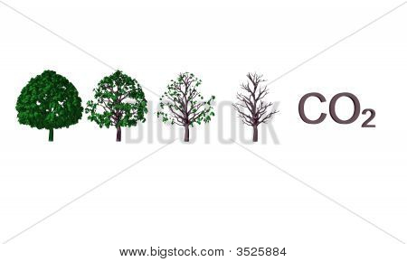 Abstract Co2 Illustration