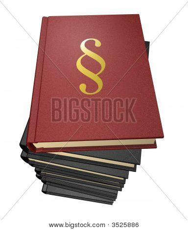 Several Law-Books With Paragraph
