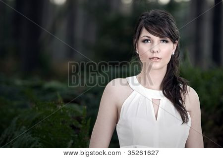 Stunning Teenage Model in Forest