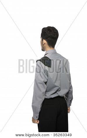 Backside Of Business Man