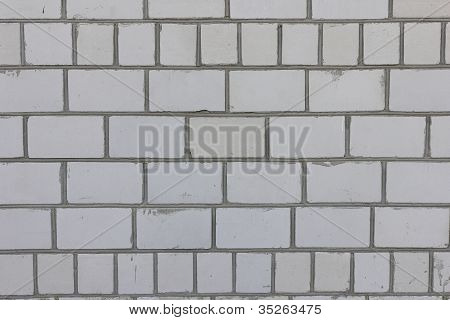 A white brick wall
