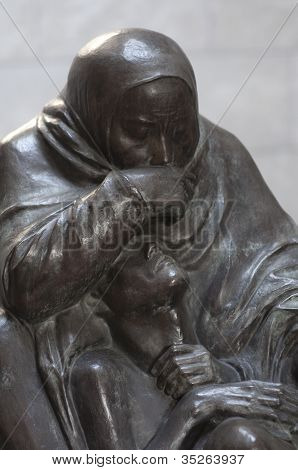 Mother And Her Dead Son Monument