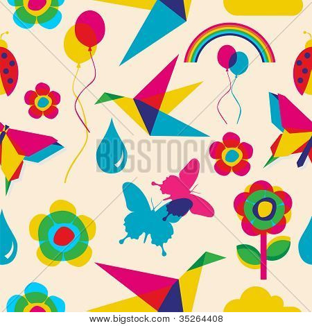 Colorful Summer Origami Pattern