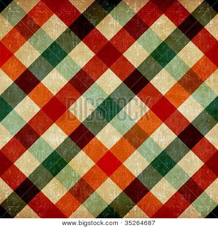 Vintage Checkered Tablecloth Pattern