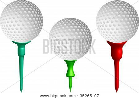 Three Golf Balls